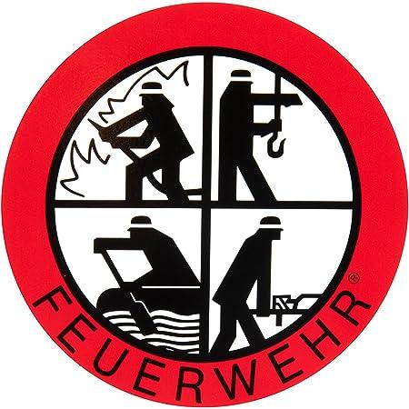 Feuerwehr Aufkleber Dfv Signet Klebeplakette 90 Mm Außenklebend Sport Freizeit