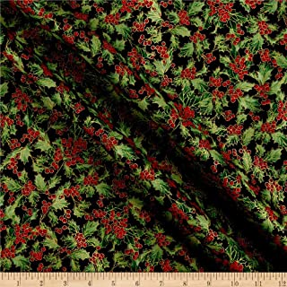Best holly berry fabric Reviews
