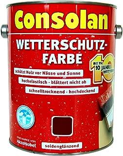 2,5 Liter Consolan Wetterschutzfarbe dunkelbraun 205 bis 10 Jahre Langzeitschutz