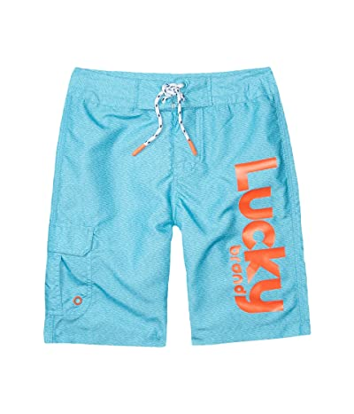 Lucky Brand Kids Lucky Logo Boardshorts (Big Kids) (Bachelor Button) Boy