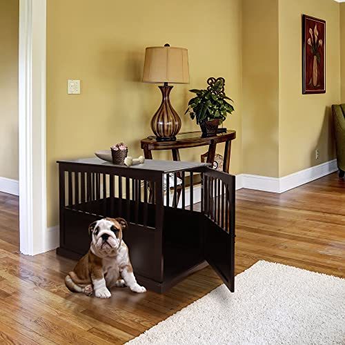 Dog crates furniture style Wood Casual Home Wooden Pet Crate Amazoncom Dog Crates Furniture Style Amazoncom
