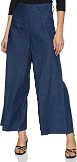 ABOF Women's Flared Relaxed Jeans