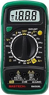 Mastech MAS830L Digital Multimeter, 9 Function, 2000 Count, 5.7