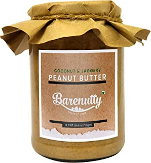 BARENUTTY Coconut Jaggery White Peanut Butter (Stone Ground) - 750 GM