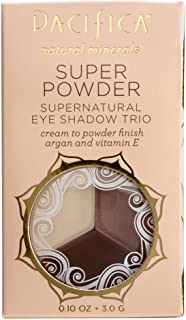 Pacifica Beauty Super Powder Supernatural Eye Shadow Trio with Stone, Cold, Fox, 0.1 Ounce