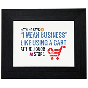 Royal Prints Shopping Cart at Liquor Store Party Sarcastic Framed Print Poster Wall or Desk Mount Options