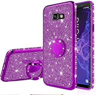 EnjoyCase Glitter Case Galaxy A5 2017,Bling Diamond Rhinestone Girls Women Cover with Ring Kickstand Shiny Skin Clear Prot...