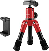 ZOMEI ZM-HR-CK30-RED-01 Lightweight Compact Aluminum Alloy Mini Desktop Tabletop Tripod with 360 Degree Panoramic Ball Head and Quick Release Plate for Canon Nikon DSLR Cameras, etc, Red