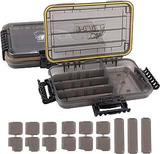 RUNCL Fishing Tackle Box, Waterproof Storage Box, Fishing Tackle Storage Bag, Fishing Tackle Backpack - Tournament Proven, Angling-Specific Design, Ergonomic Design- Storage Organizer, Fly Fishing Bag