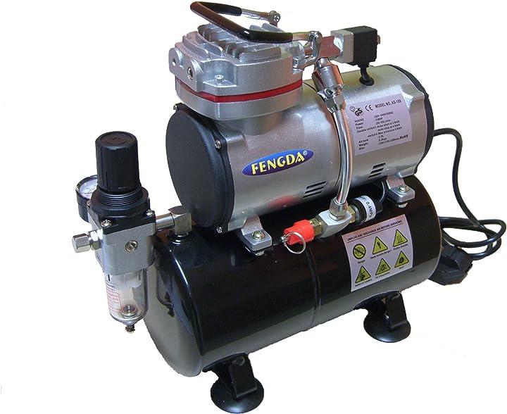 Compressore aerografo con contenitore a pressione fengda® as-189 hobby original fengda B00HZ2MQ3A