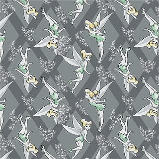 Disney Tinkerbell Diamonds in Iron Fabric by the Yard