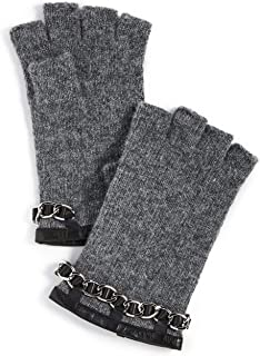 Women's Chain Detail Knit Fingerless Gloves