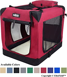 EliteField 3-Door Folding Soft Dog Crate, Indoor & Outdoor Pet Home, Multiple Sizes..
