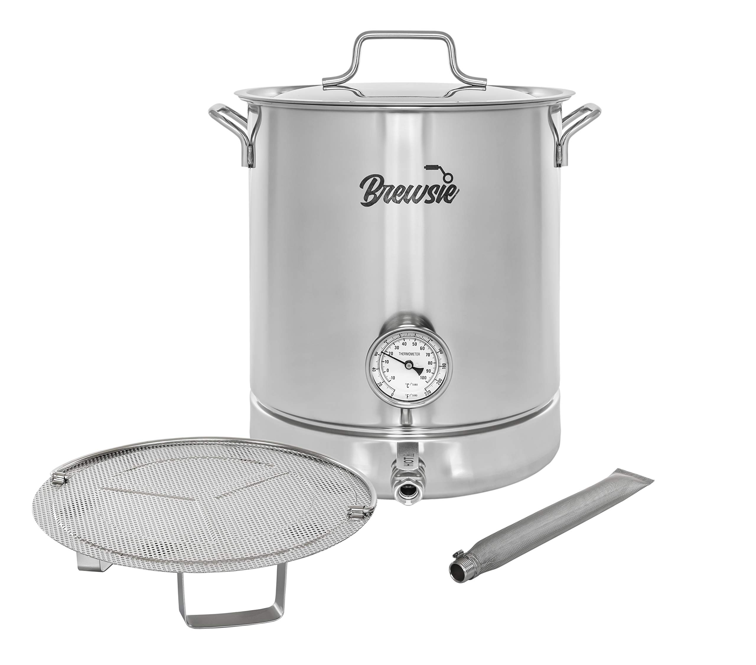 BREWSIE Stainless Filtration Thermometer Brewing