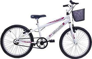 Bicicleta Aro 20 Infantil Feminina Cesta E Rodinha+capacete