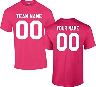 Custom Jersey-Style Front and Back Short Sleeve T-Shirt (Unisex, Youth/Adult) - Add Your Team, Name, and Number