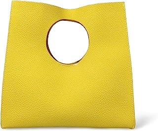 Hoxis Vintage Minimalist Style Soft Pu Leather Handbag Clutch Small Tote