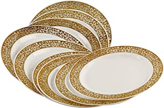 RosyMoment 10 Pieces Plate, Plastic