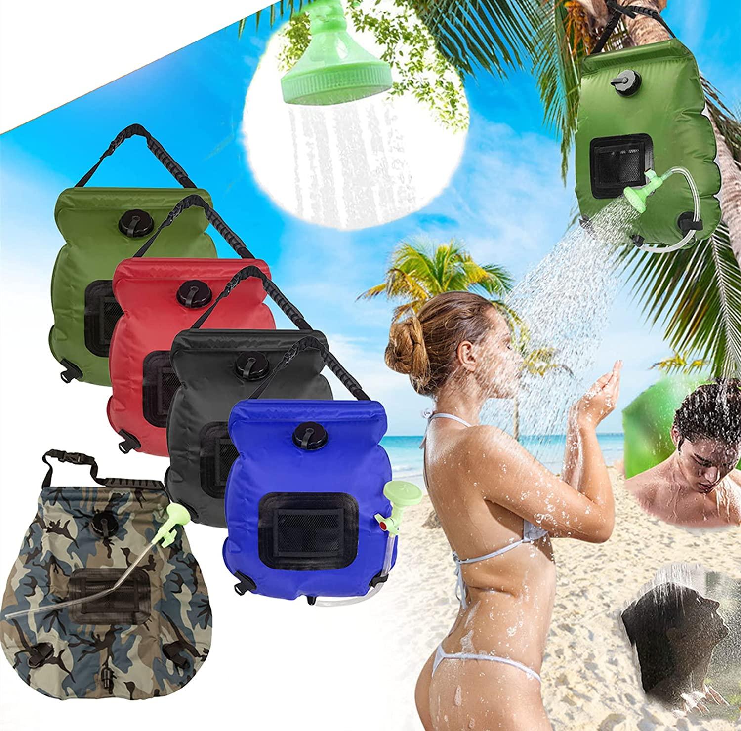 MTTP Camping Shower Max 44% OFF Bag 20L Outdoor Inflatable Hot Solar Long Beach Mall