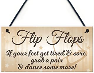 Flip Flop Grab A Pair And Dance Wedding Prop Hanging Plaque Decoration Gift Sign