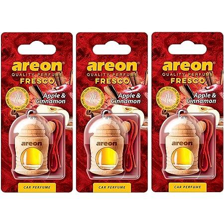 Areon Ken Lufterfrischer Dose Auto Duft Apfel Zimt Autoduft Apple Cinnamon Duftdose Wohnung Erfrischer 3d Set Pack X 2 Auto