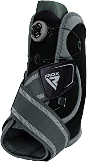 RDX Ankle Support with FlexDial Adjustable Straps, Neoprene Foot Brace Compression Mesh Sleeve for Achilles Tendon Arthritis Running Ligament Damage Sprained Weak Ankles Protector, Sold as Single