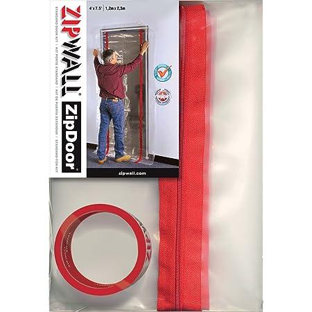 ZIPWALL ZipDoor ZDS Standard Dust Barrier Zipper Door Kit, 1 Pack, Black