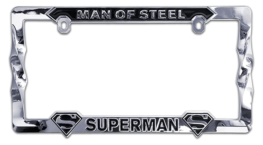 Elektroplate Superman Man of Steel 3D Metal License Plate Frame