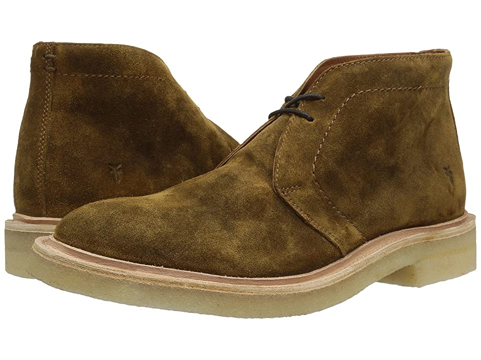 Frye Chris Crepe Chukka (Tan Washed Waxed Suede) Men