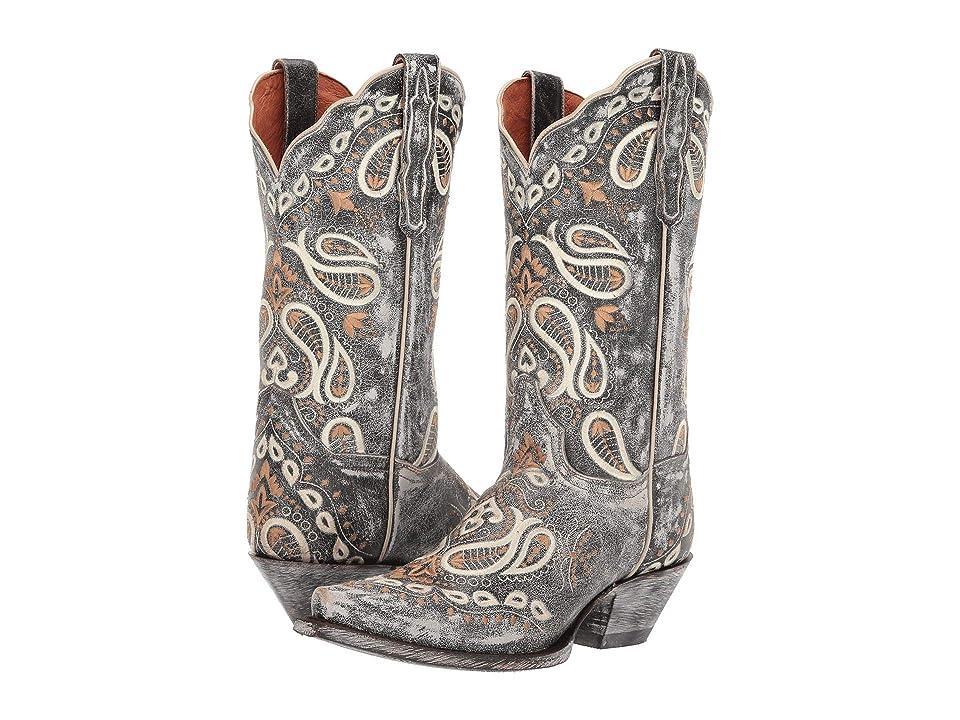 Dan Post Julissa (Grey Leather) Cowboy Boots