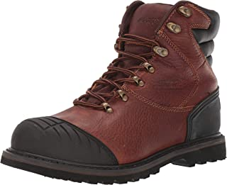 "Adtec 7"" Men's Work Boots Steel, Full Grain Leather Slip & Acid Resistant Outsole, Toe Cap, Durable Construction Shoes, Go..."