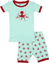 Leveret Shorts 2 Piece Pajama Octopus 100% Cotton 3 Years
