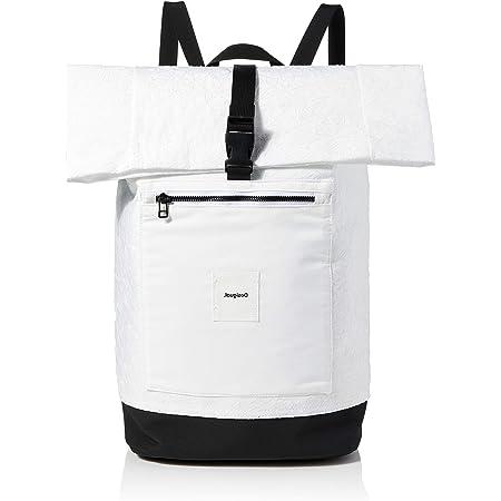 Desigual Womens Woven Backpack Big, White, Medium
