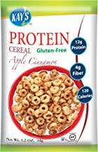 Kay's Naturals Protein Breakfast Cereal, Apple Cinnamon, Gluten-Free, Low Carbs, Low Fat, Diabetes Friendly All Natural Flavorings, 1.2 Ounce (Pack of 6) - coolthings.us