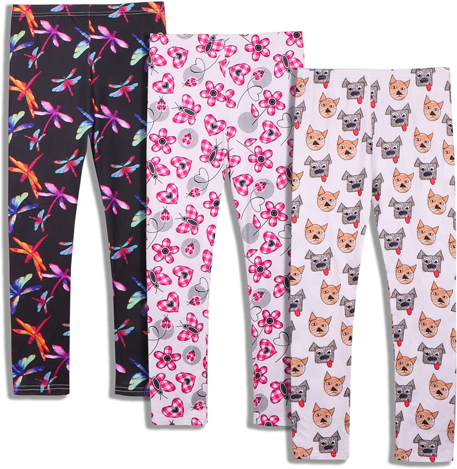 iLover Girls Cute Stretch Athletic Max 72% OFF Kids Ankl Yoga Max 47% OFF Pants Leggings