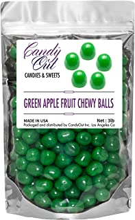 CandyOut Green Apple Chewy Candy Balls 3 Pound