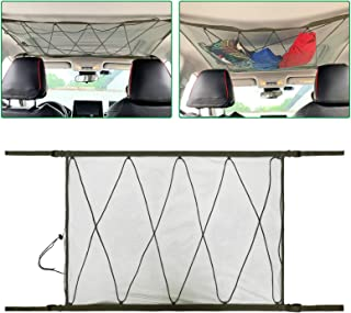 Ceiling Cargo Net Pocket, Storage Bag Car Roof Long Trip Tent Putting Quilt Children's Toy Towel Sundries Van SUV Car Interior Accessories