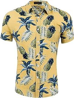 Men's Tropical Short Sleeve Beach Party Luau Aloha Hawaiian Shirt