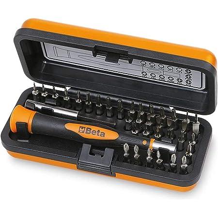 Beta 1256/C36-2 - Set Mini Cacciaviti Professionali 36 Inserti, Mini Cacciaviti di Precisione, Microgiravite con Inserti Intercambiabili da 4 Mm e Prolunga Magnetica - Dimensioni: 130X60X35 Mm