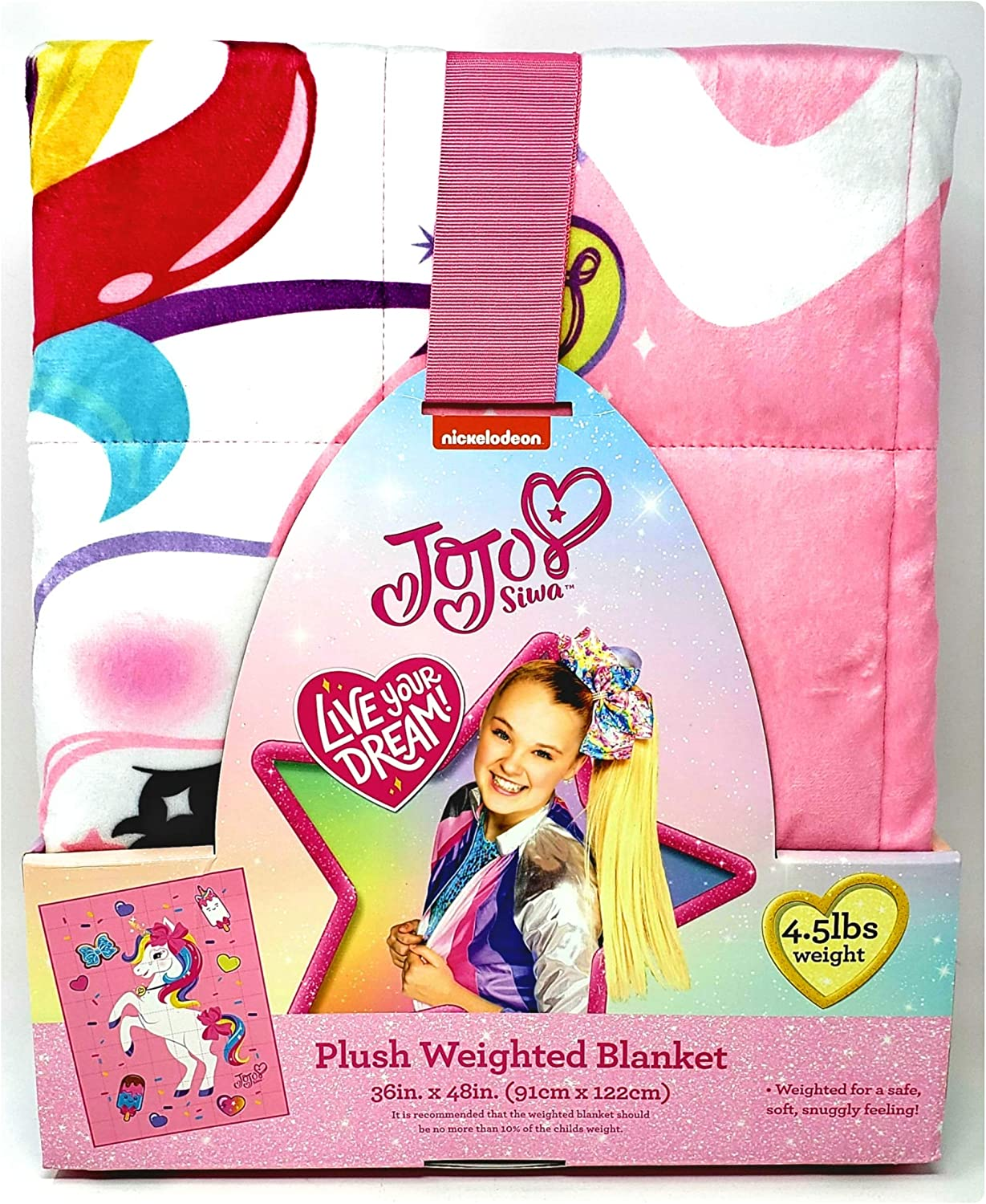 At the price of surprise Franco Manufacturing JoJo Siwa Fixed price for sale Plush lbs Weighted 4.5 Blanket -