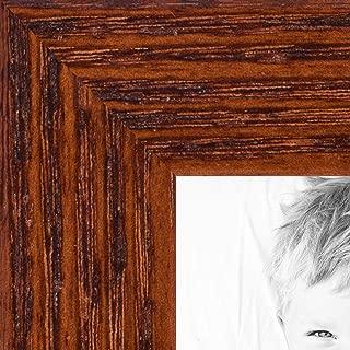 ArtToFrames 24x30 inch Walnut on Red Oak Wood Picture Frame, WOM0066-1343-YWAL-24x30