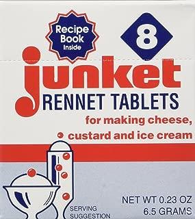 One Box of 8 Junket Rennet Tablets (net wt 0.23 oz)