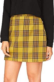 Women's Plaid High Waist Bodycon Mini Skirt