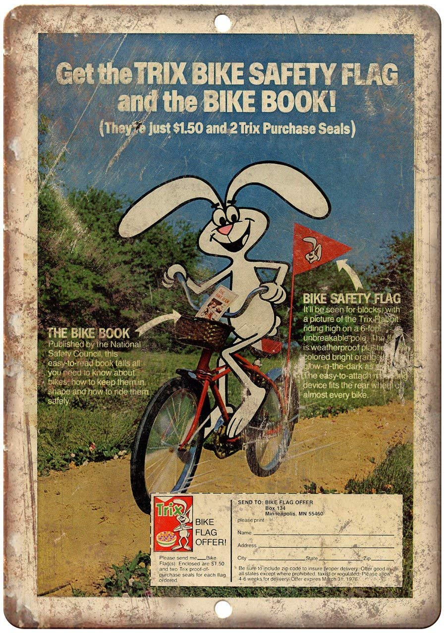 Todghrt Trix - Señal de Seguridad para Bicicleta (30,5 x 40,6 cm ...