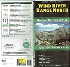 Wind River Range North Outdoor Recreation Map Topographic Shaded Relief