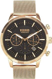 Versus Versace VSPEV0719 - Reloj de cuarzo para hombre, esfera analógica marrón y metal plateado