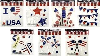 Regent Patriotic Flag Window Gel Sticker Cling Decoration Bundle of 7 Packages