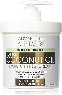 Advanced Clinicals Coconut Oil Cream Moisturizing Lotion. (16oz)