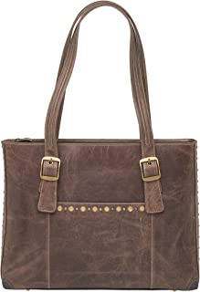 Concealed Carry Purse - Distressed Buffalo Leather Shoulder Portfolio by Gun Tote'n Mamas