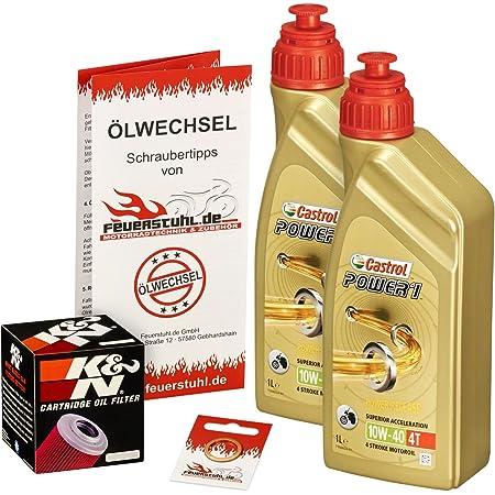 Castrol 10w 40 Öl Hiflo Ölfilter Für Honda Xl 125 V Varadero 01 13 Jc32 Jc49 Ölwechselset Inkl Motoröl Filter Dichtring Auto